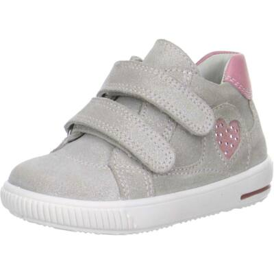 Superfit szürke-rózsaszín szívecskés átmeneti cipő
