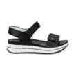 Igi&Co fekete, tépőzáras, női kényelmi szandál