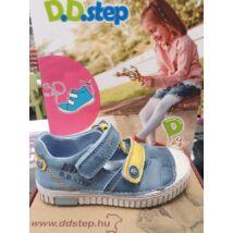 D.D.Step tengerkék-mustár, orrvédős, tépőzáras szandálcipő 2