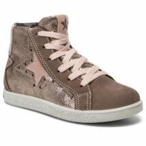 Primigi barna-púder, fűzős+cipzáras, VÍZÁLLÓ átmeneti cipő