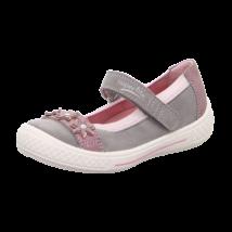 Superfit szürke-fényes rózsaszín, virágos szandálcipő