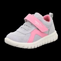 Superfit szürke-rózsaszín, gumifűzős+tépőzáras sportcipő