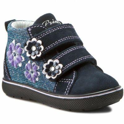 Primigi sötétkék-lila virágmintás átmeneti cipő