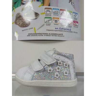 Primigi fehér-ezüst virágmintás átmeneti cipő