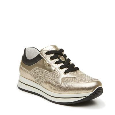 Igi & Co arany-fekete, fűzős tavaszi cipő