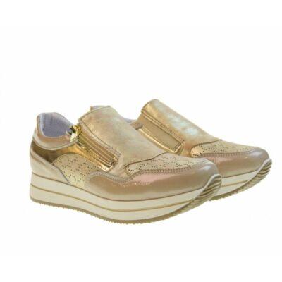 Igi & Co bézs, cipzáros-gumis tavaszi cipő