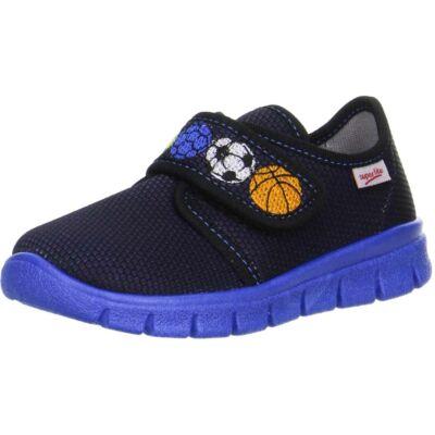 Superfit kék labdás vászoncipő