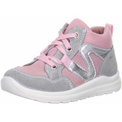 Superfit rózsaszín-szürke fűzős cipő