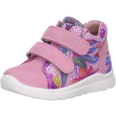 Superfit virágmintás-rózsaszín tépőzáras cipő
