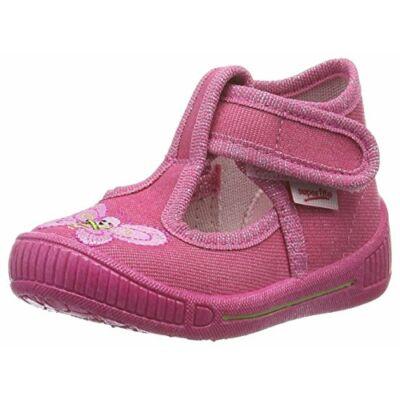 Superfit rózsaszín pillangós vászoncipő