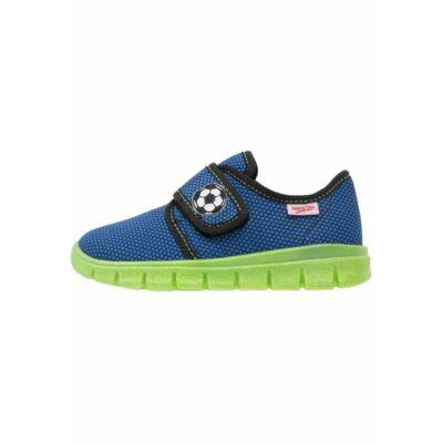 Superfit kék-zöld focis vászoncipő