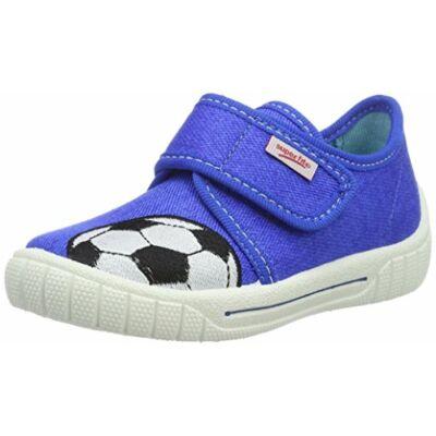 Superfit kék focis vászoncipő