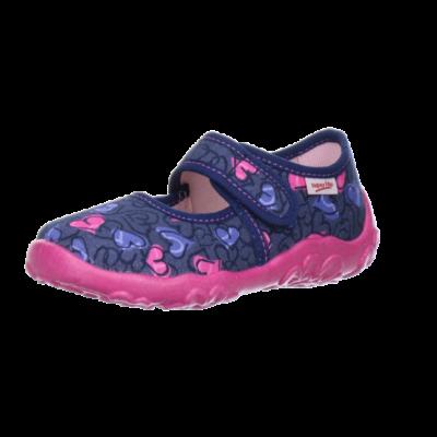 Superfit lila szívecskés vászoncipő