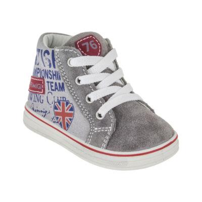 Primigi szürke-piros angol zászlós cipő