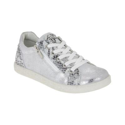Primigi ezüst-fekete fűzős-cipzáras cipő