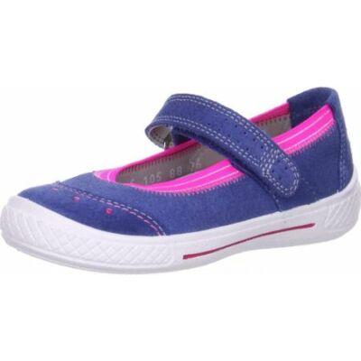 Superfit kék-ciklámen balerina cipő