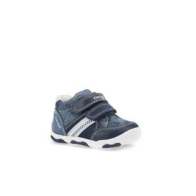 AKCIÓS! GEOX farmerkék-fehér, orrvédős, tépőzáras átmeneti cipő