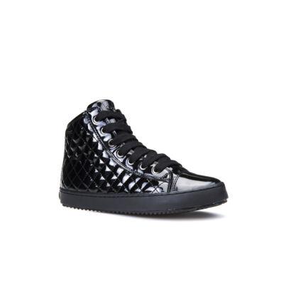 AKCIÓS 38-as! GEOX fekete lakkbőr, fűzős+cipzáras őszi cipő