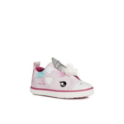 AKCIÓS 27-es! GEOX rózsaszín, unikornisos, lélegző slip-on cipőcske