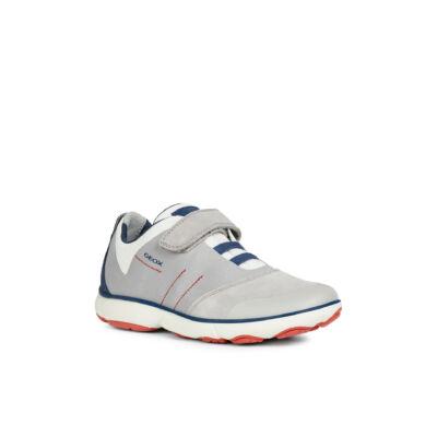 Geox szürke-kék-piros, gumifűzős+tépőzáras tavaszi cipő