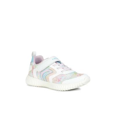 e440372555 GEOX, fehér-színes, gumifűzős+tépőzáras sportcipő - Cipők - Trendi ...