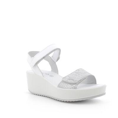 Igi&Co fehér-ezüst, tépőzáras, női kényelmi szandál