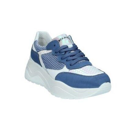 Igi&Co tengerkék-ezüst, fűzős, női kényelmi cipő