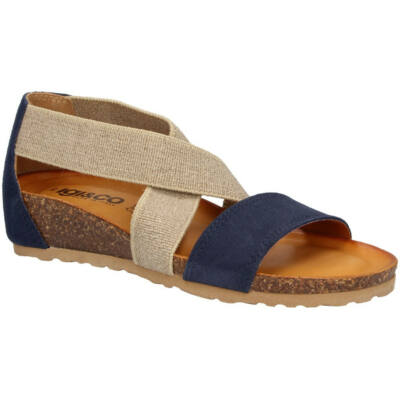 Igi&Co kék-barna, gumis, női kényelmi szandál