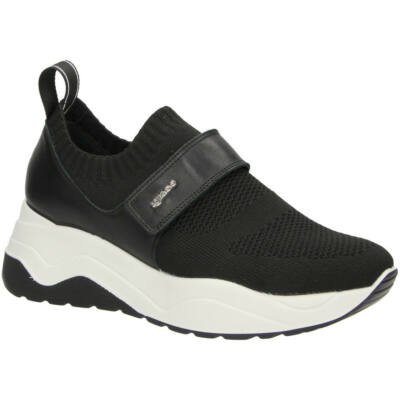 Igi&Co fekete, tépőzáras, női kényelmi zoknicipő