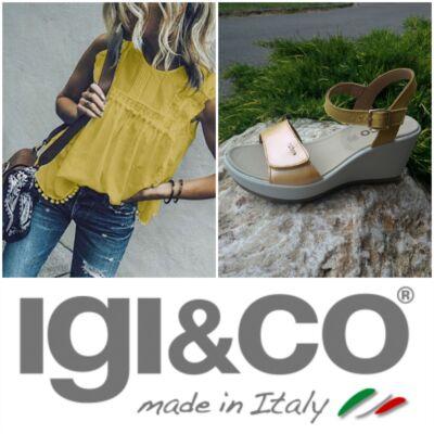 Igi&Co napsárga, csatos-tépőzáras, női kényelmi szandál