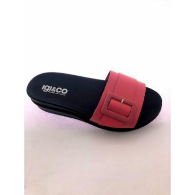 Igi&Co fekete-piros, női kényelmi papucs