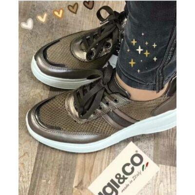 Igi&Co bronz, fűzős női kényelmi cipő