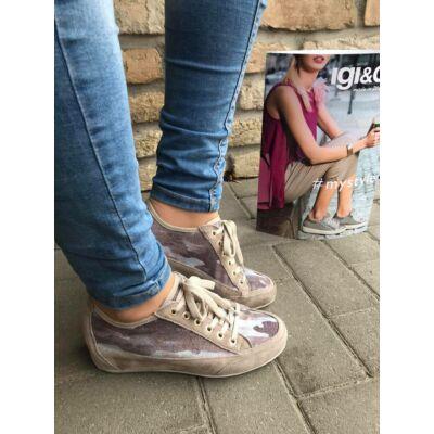 Igi&Co homok-felhő, szellőző, fűzős női kényelmi cipő