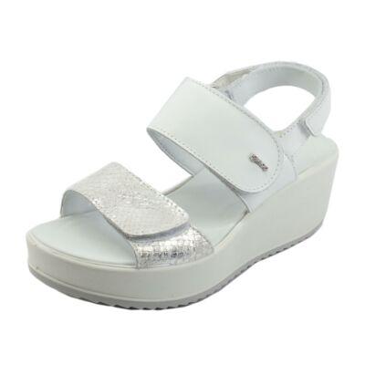 Igi&Co fehér-ezüst, tépőzáras női kényelmi szandál