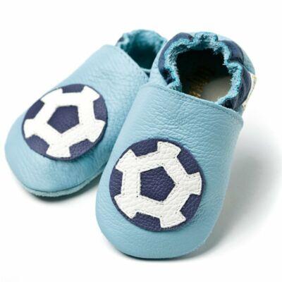 Liliputi puhatalpú cipő focis