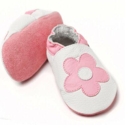 Liliputi puhatalpú cipő rózsaszín virágos