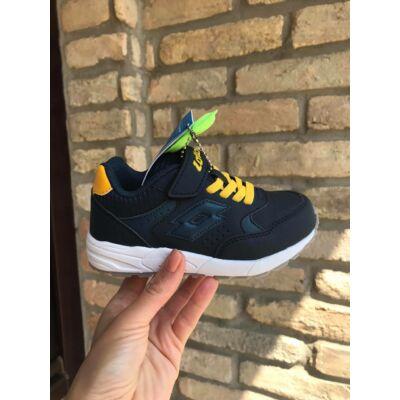 Lotto AMF sötétkék-mustár, gumifűzős+tépőzáras sportcipő
