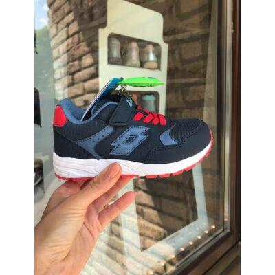 Lotto AMF sötétkék-piros, gumifűzős+tépőzáras sportcipő