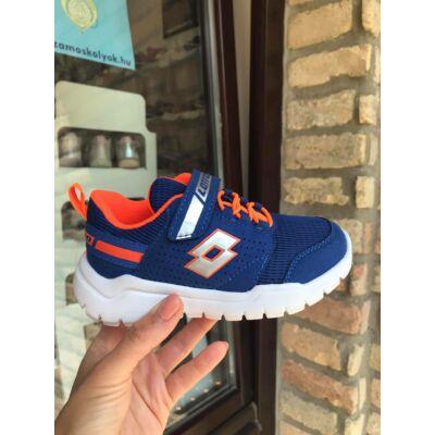 Lotto kék-narancs, gumifűzős+tépőzáras sportcipő