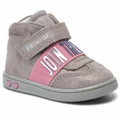Primigi csillámos szürke-rózsaszín, gumipántos+tépőzáras átmeneti cipő