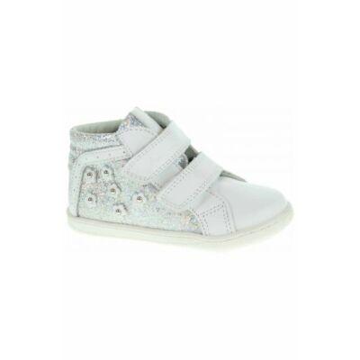 AKCIÓS! Primigi fehér-ezüst virágmintás átmeneti cipő