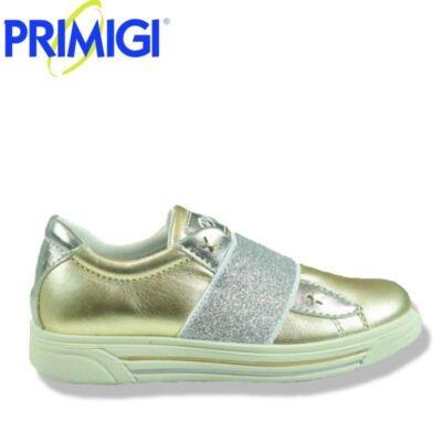 PRIMIGI arany-ezüst, slip-on bőrcipő