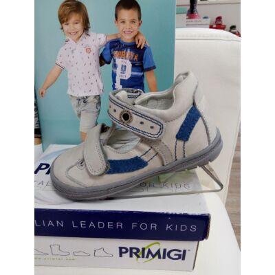 AKCIÓS! Primigi szürke-kék dupla tépőzáras szandálcipő