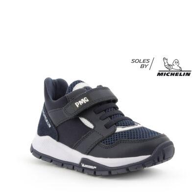PRIMIGI sötétkék, Michelin-talpas, gumifűzős+tépőzáras sportcipő