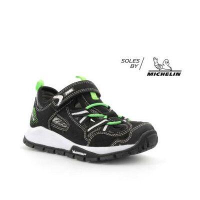 PRIMIGI fekete-zöld, Michelin-talpas, orrvédős szandálcipő