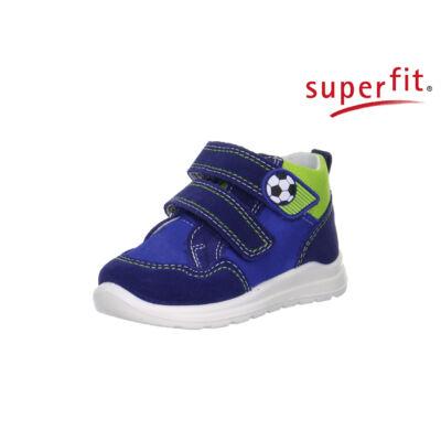 AKCIÓS! Superfit kék-zöld, focis, tépőzáras tavaszi bőrcipő