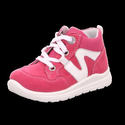 Superfit rózsaszín-fehér, fűzős átmeneti cipő