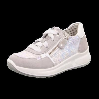 Superfit ezüst-fehér, fűzős+cipzáras tavaszi cipő