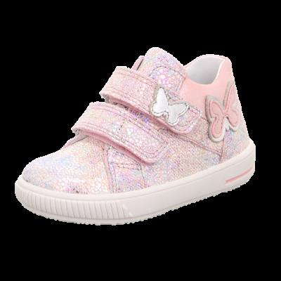 Superfit fényes rózsaszín, pillangós tavaszi cipő