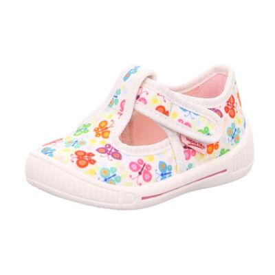 Superfit fehér-színes pillangós vászoncipő